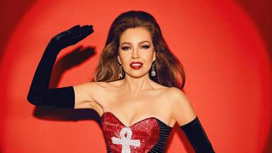 Thalia con uno de esos 'looks' rescatados de los inicios de su carrera