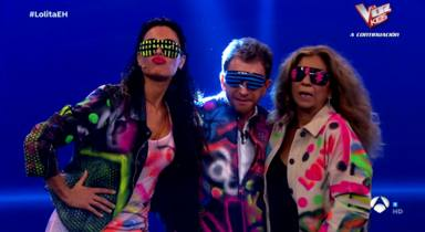 Pilar Rubio, Pablo Motos y Lolita Flores en 'El Hormiguero'