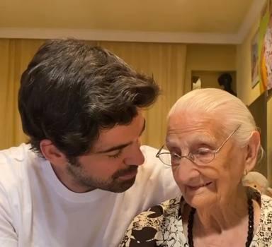 Miguel Ángel Muñoz y la tata en su último día juntos