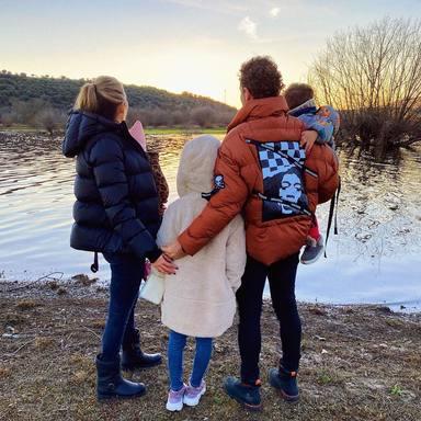 David Bisbal junto a sus hijos Ella, Matteo y Bianca y su mujer Rosanna Zanetti