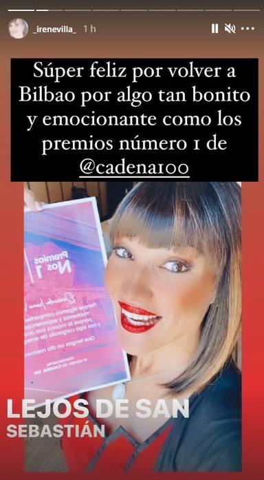 Irene Villa, feliz por poder asistir a los Premios Nº 1 de CADENA 100