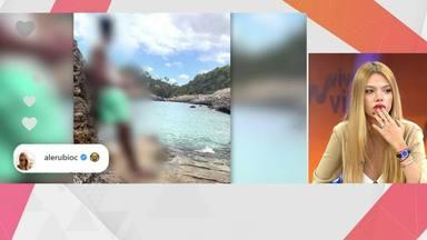 Alejandra Rubio con cara de pánico al pensar que 'Viva la vida' iba a destapar la identidad de su nueva pareja