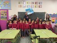 Jimeno visita el colegio Santa María de los Pinos