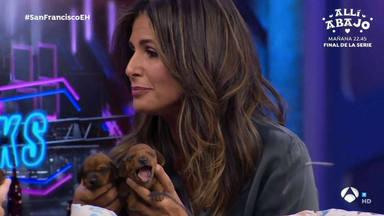 Nuria Roca presenta a sus cachorros en 'El Hormiguero'