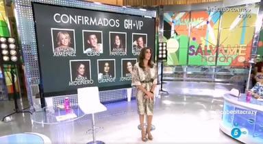 Irene Junquera en la pantalla de Sálvame de confirmados en GH VIP 7
