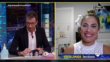 """El optimismo de Toni Acosta del fin del confinamiento en 'El Hormiguero': """"La vida es otra cosa"""""""