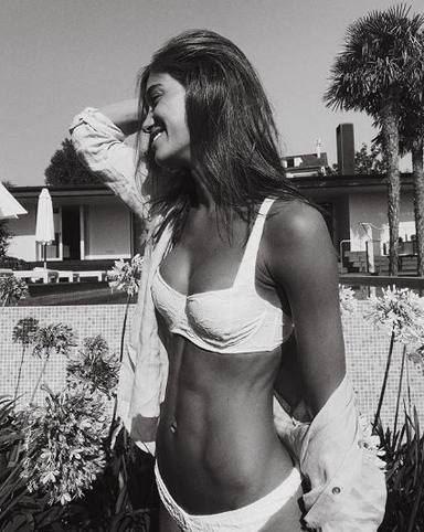 Blanca Rodríguez en una foto tomada por Álex González durante sus vacaciones
