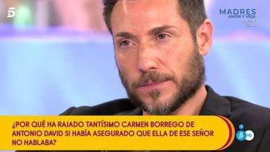 Antonio David, muy enfadado con Carmen Borrego, le hace una advertencia