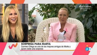 'Viva al vida' sorprende a Marta Sánchez con la llamada de una de sus mejores amigas