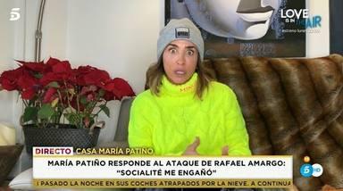María Patiño responde a los ataques de Rafael Amargo
