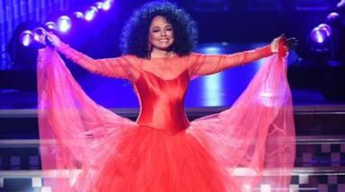 Diana Ross durante una actuación