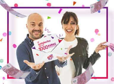¡Gana 1.000 euros cada día con El cumpleaños de los 1.000 euros de CADENA 100!