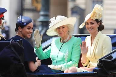 Meghan Markle junto a Kate y Camila