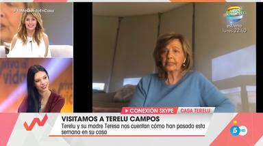 María Teresa Campos cuenta en Viva la vida cómo está viviendo el confinamiento