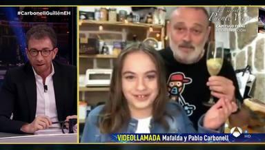 Mafalda Carbonell y Pablo en El Hormiguero