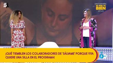 Yiya intenta convencer a Carlota Corredera y a la audiencia para ser la nueva colaboradora de Sálvame
