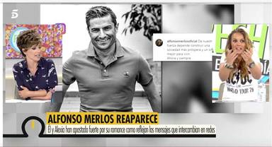 Marta López reacciona a la reaparicion de Alfonso Merlos en las redes sociales tras meses desaparecido