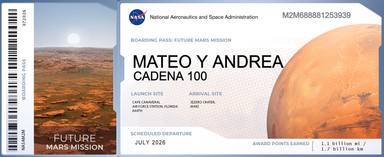 Mateo & Andrea se van de viaje: ¡A Marte! y tu también puedes hacerlo