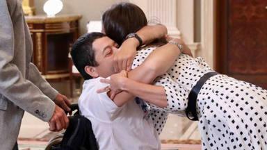 El momento más emotivo del encuentro de Gerardo con Doña Letizia