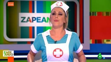 Valeria Ros, vestida de enfermera en 'Zapeando'