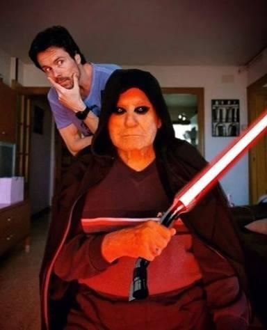Octavi Pujades y su padre en acción
