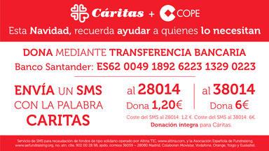 Grupo COPE lanza en Navidad una campaña de donación por SMS a favor de Cáritas