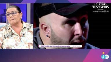 María del Monte recibe un emotivo mensaje de Kiko Rivera y se rompe en directo