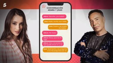 Los mensajes privados de Adara y Joao hablando de Gianmarco