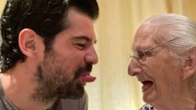 Miguel Ángel Muñoz en un momento cómplice con la tata