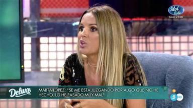 Marta López Sálvame Deluxe falso positivo