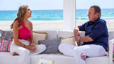 Paz Padilla durante la entrevista con Bertín Osborne en Mi casa es la tuya