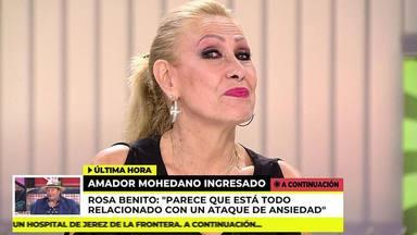 Rosa Benito lanza un dardo envenenado a María Patiño tras el ingreso de Amador Mohedano por una hemorragia