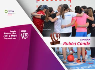 Rubén Conde, premio ¡Buenos días, Javi y Mar! Por un mundo mejor