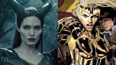 Angelina Jolie como Maléfica y Thena, su personaje en Los Eternos