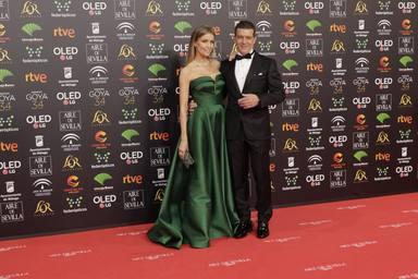 Antonio Banderas y Nicole Kimpel en los Goya