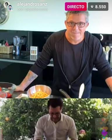 Alejandro Sanz cocina junto a Quique DaCosta tres recetas veganas