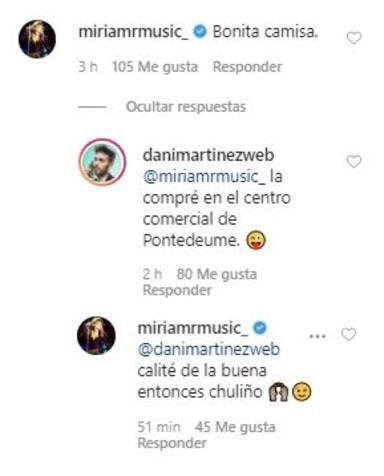 Una broma entre Miriam Rodríguez y Dani Martínez hace saltar todas las alarmas sobre una posible relación