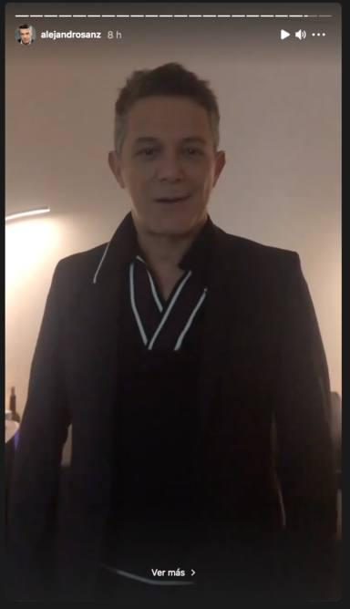 Alejandro Sanz emocionado antes del concierto