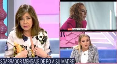 """Bobadas"": El duro mensaje de Ana Rosa Quintana a Rocío Carrasco tras hablar en directo con Rocío Flores"
