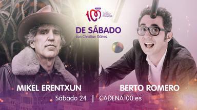 Mikel Erentxun y Berto Romero son los invitados a la fiesta 'De Sábado con Christian Gálvez'