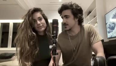 Julia Medina y Gonzalo Hermida comparten su música desde su casa