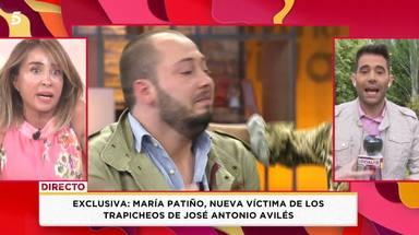 María Patiño, muy enfadada al enterarse de los chantajes de Avilés