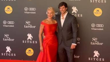Belén Rueda y su novio en el Festival de Sitges