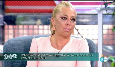 Jorge Javier Vázquez abandona y Belén Esteban acaba entre lágrimas