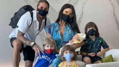 Pilar Rubio y su familia