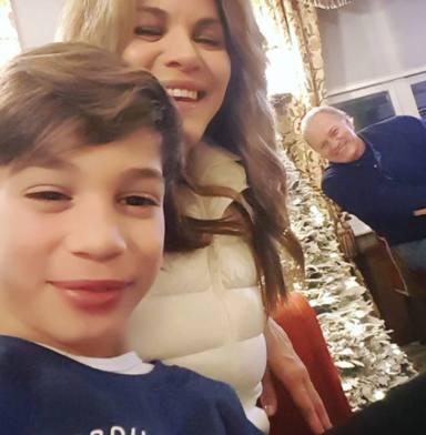Bertín Osborne con sus hijos