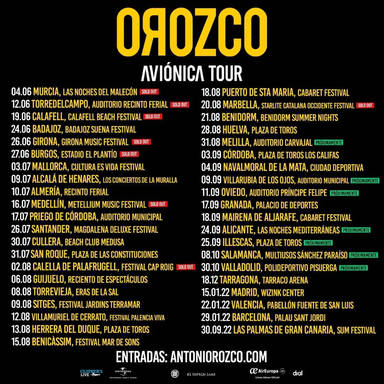 Antonio Orozco: Aviónica tour 2021
