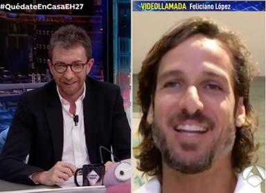 Pablo Motos y Feliciano López en El Hormiguero