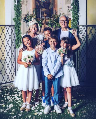 Las bodas de oro de los padres de Laura Pausini