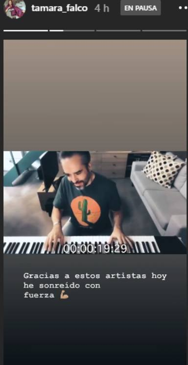Tamara Falcó comparte el vídeo de Resistiré 2020